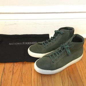 Green Suede National Standard Men's Hightops 40EU